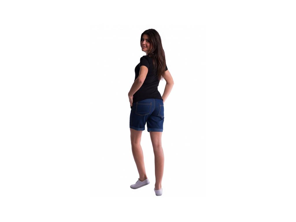 Be MaaMaa Těhotenské kraťasy s elastickým pásem - sv.