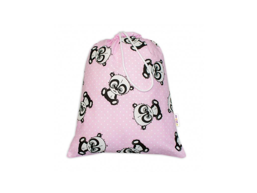 Baby Nellys Pytlík na přezůvky Baby Panda - růžový