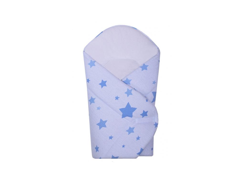 Novorozenecká zavinovačka Hvězda Baby Nellys z úpletu - modrá