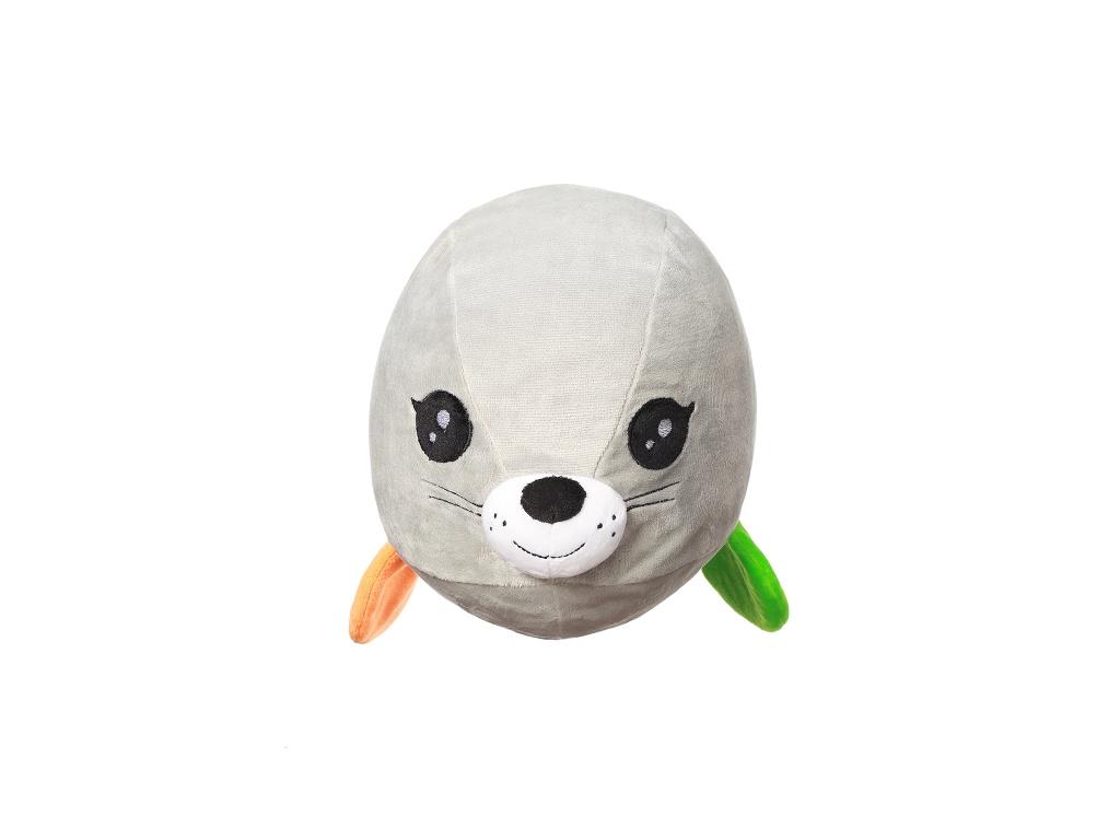 BabyOno Plyšová hračka Tuleň Lucy - šedá, 46x17x20cm