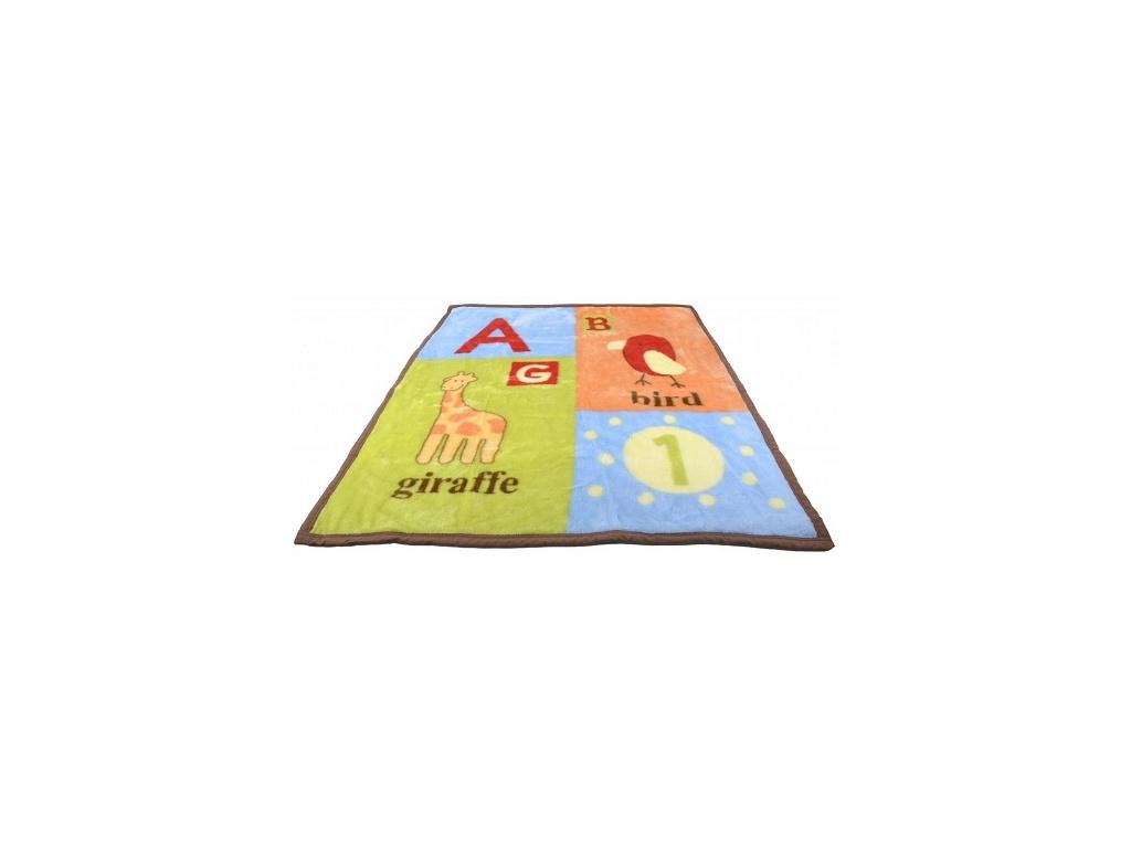 BOBO BABY Dětská akrylová deka 91x102 cm - Bird
