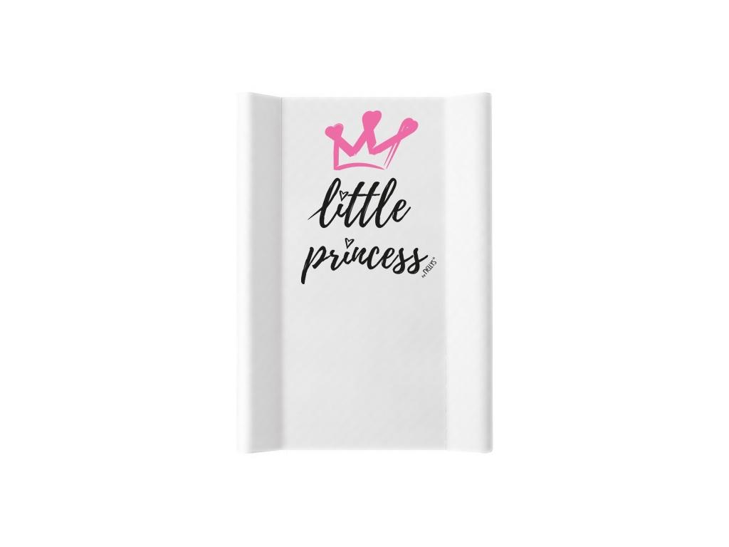 NELLYS Přebalovací podložka , tvrdá MDF, vyvýšené boky, Little Princess, 50 x 70cm, bílá