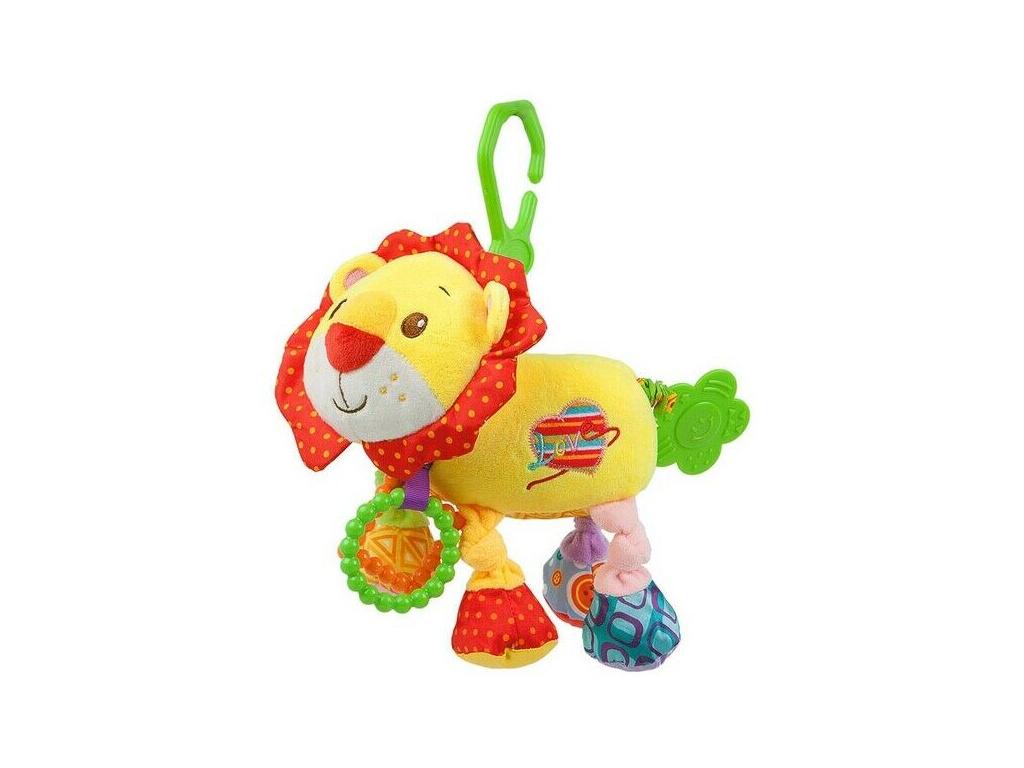 Lorelli Závěsná plyšová hračka s vibrací - Lev