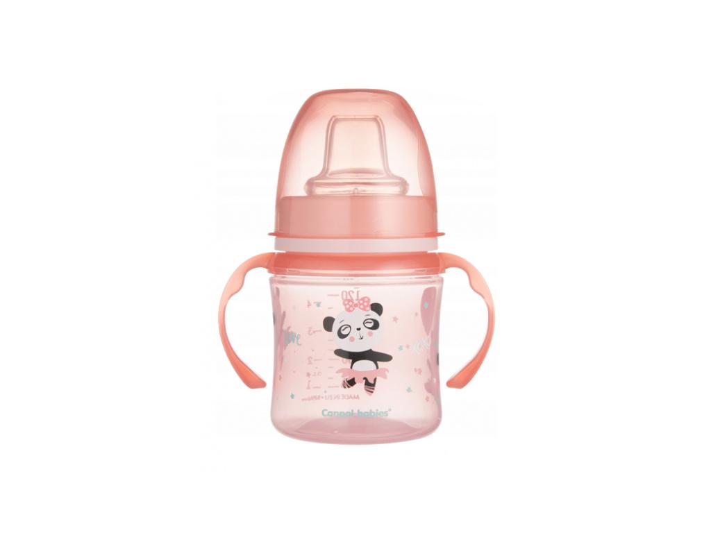 Canpol babies Nevylévací hrníček 120 ml, EasyStart - Panda - růžový