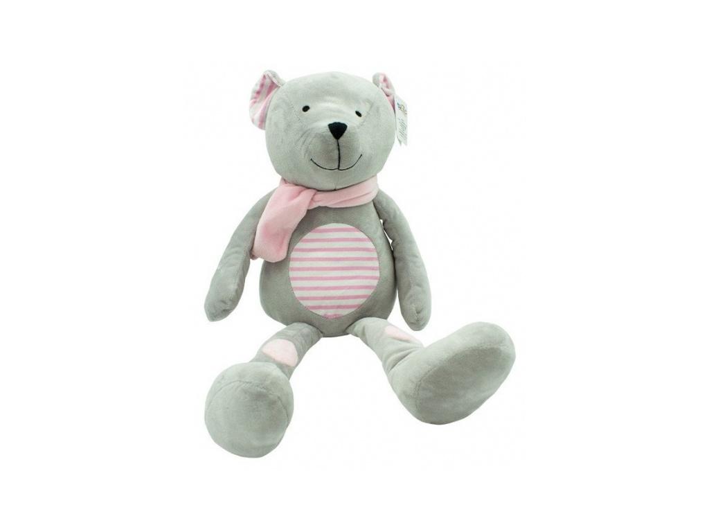 Plyšová hračka Tulilo Medvídek Erik, 33 cm - růžový s proužky