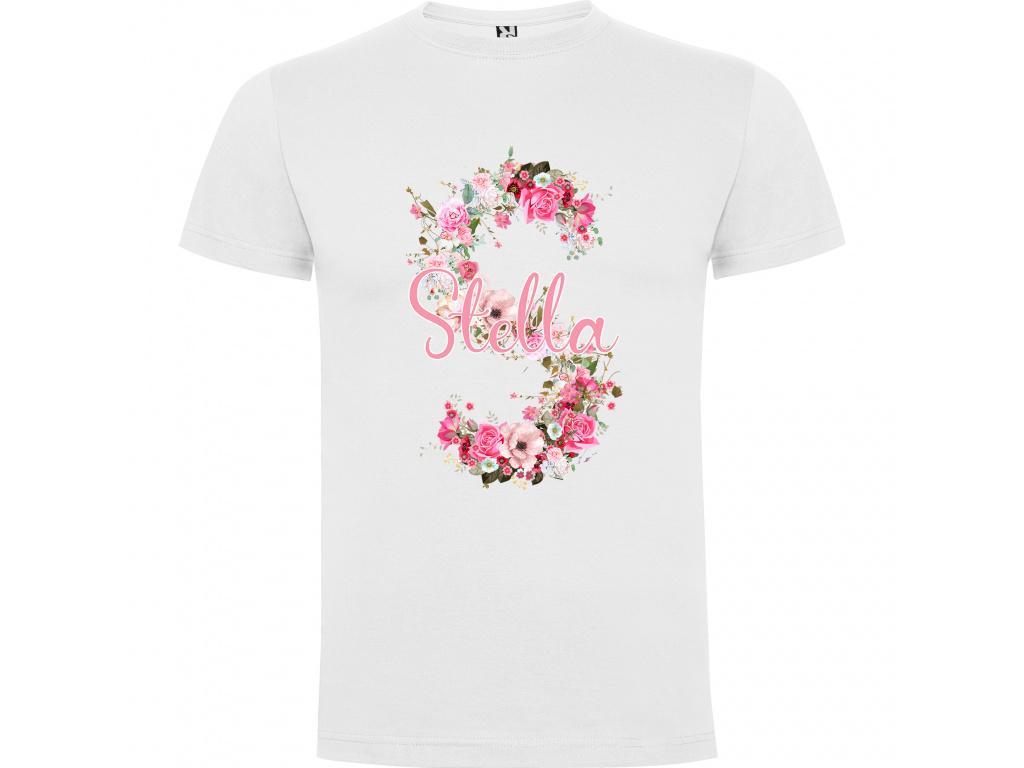Dětské tričko - Jméno z kytek