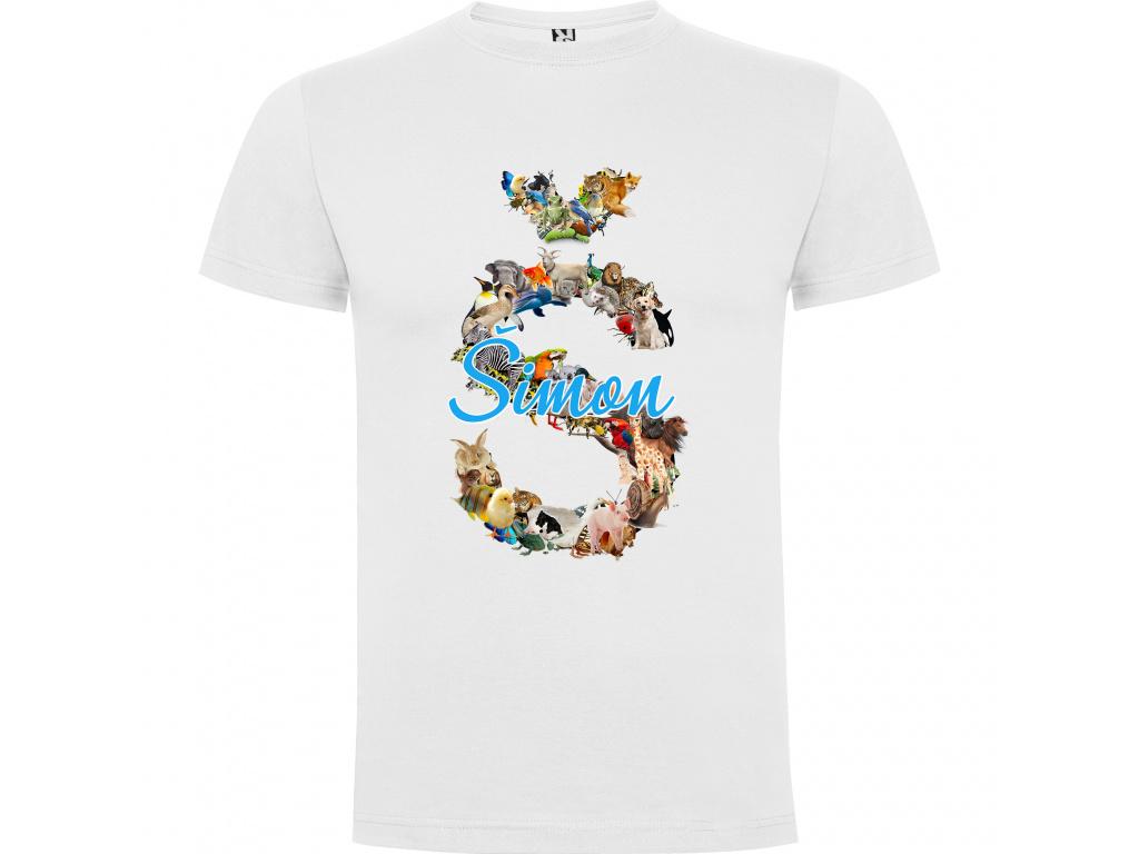 Dětské tričko - Jméno se zvířátky