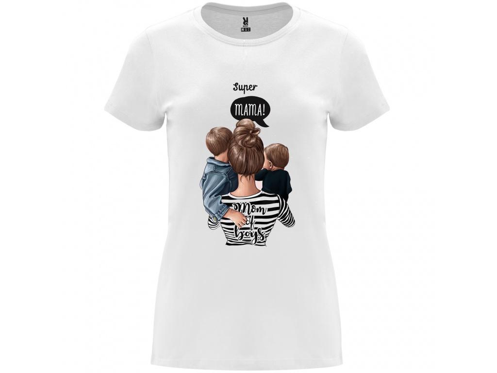Dámské tričko - Super mama of boys