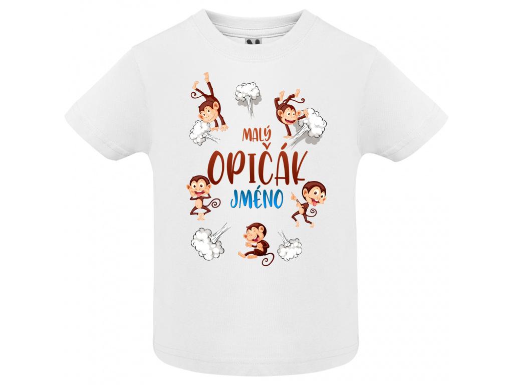 Dětské tričko - Malý opičák jméno