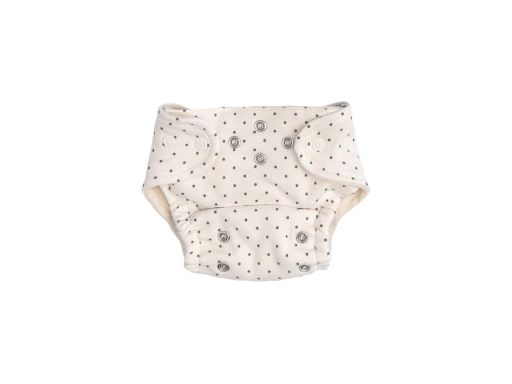 Mamatti Látková plenka EKO sada - kalhotky + 2 x plenka, vel. 5 - 14 kg, Dots - 5 - 14 kg