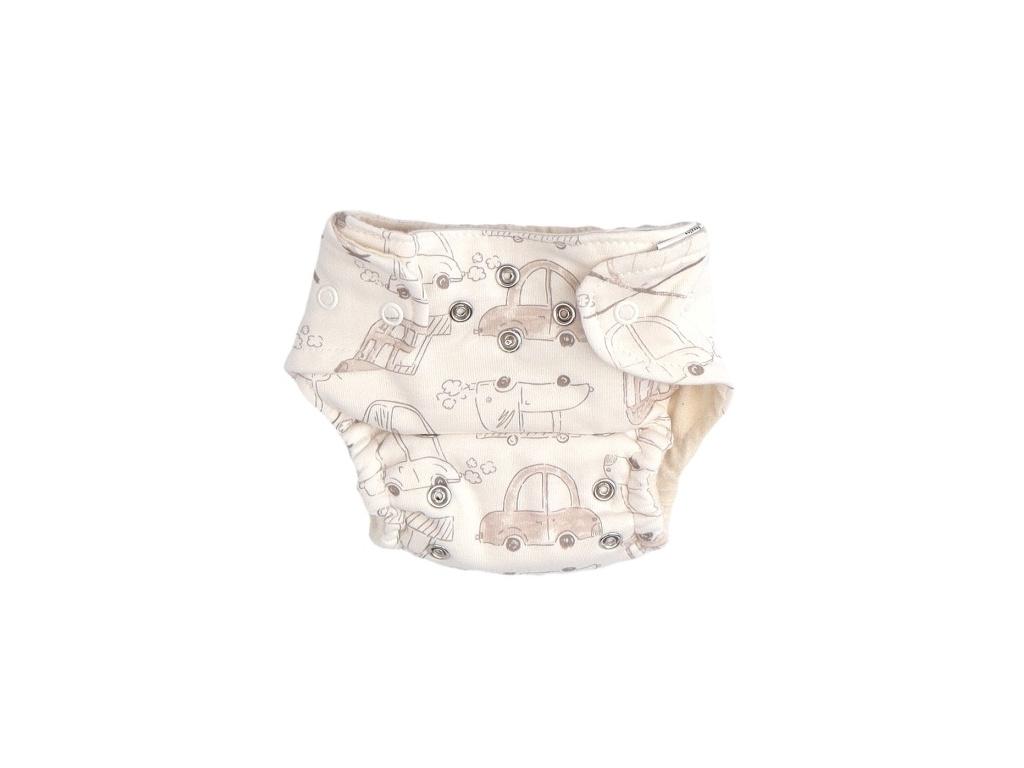 Mamatti Látková plenka EKO sada - kalhotky + 2 x plenka, vel. 5 - 14 kg, Car - 5 - 14 kg