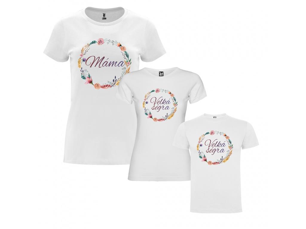 Rodinný set - Věnec (trička)