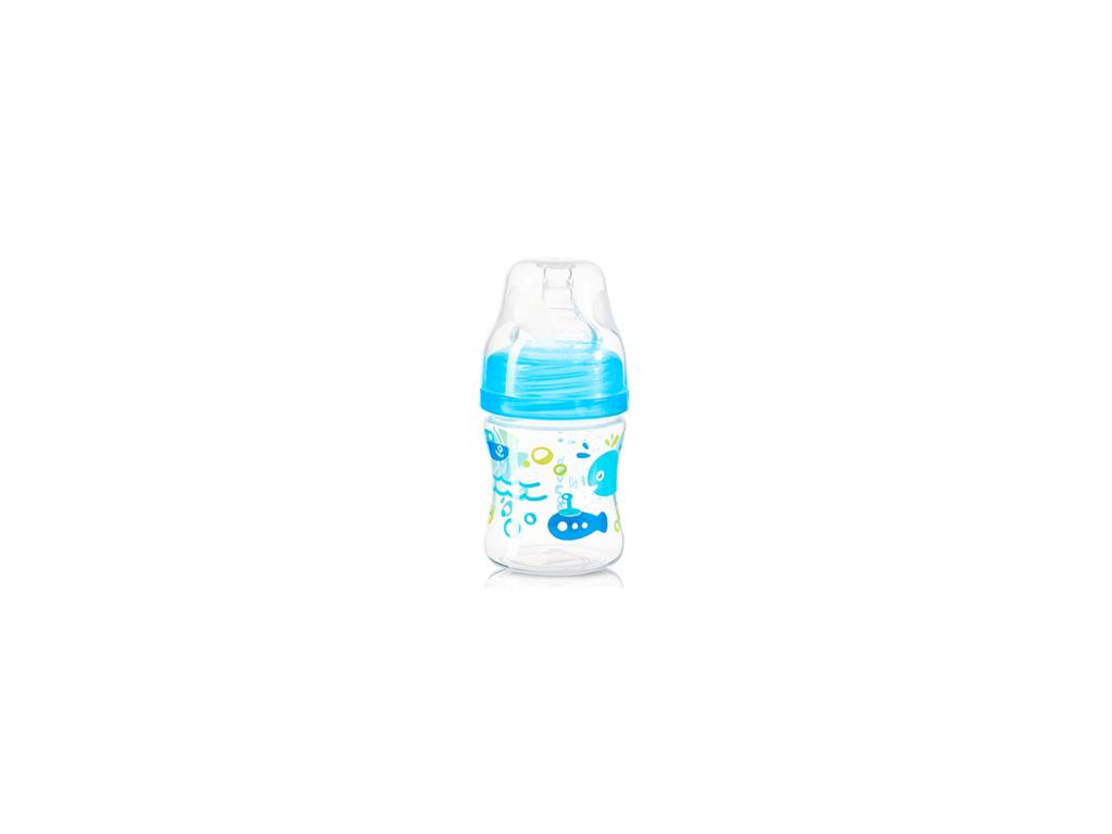 BabyOno Antikoliková lahvička se širokým hrdlem, 120ml - modrá
