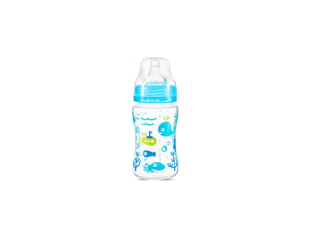 BabyOno Antikoliková lahvička se širokým hrdlem Baby Ono - modrá