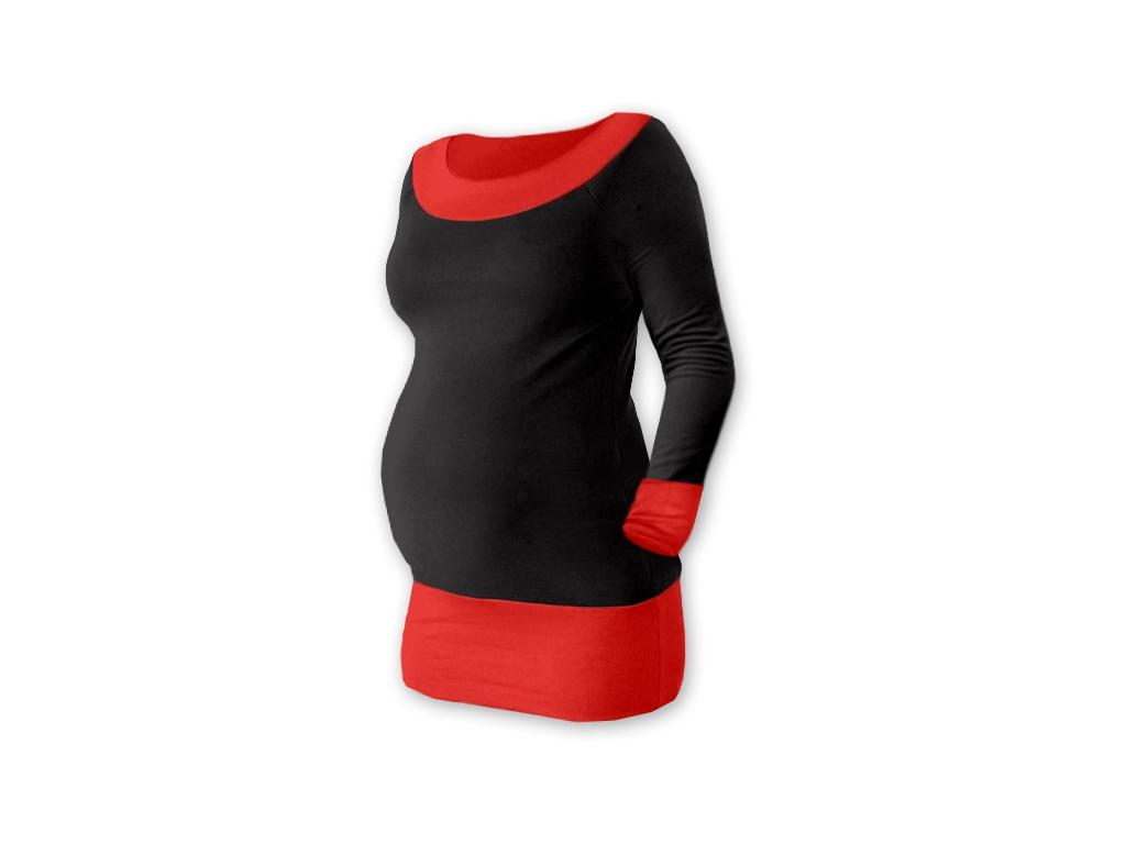Be MaaMaa Těhotenska tunika DUO - černá/červená