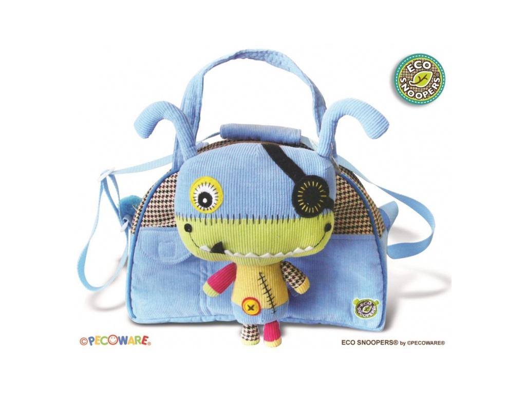 EcoSnoopers Stylová dětská taška Monster - sv. modrá