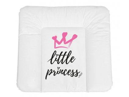 NELLYS Přebalovací podložka, měkká, Little Princess, 85 x 72 cm, bílá