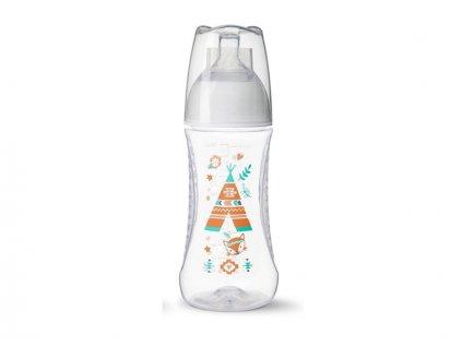 BIBI Antikoliková láhev, Týpí, 2 m+, 260 ml, oranžová