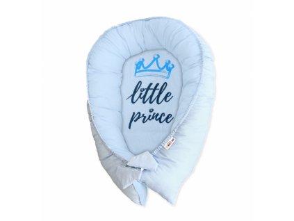 Baby Nellys Oboustranné hnízdečko, kokon Little Prince - modré