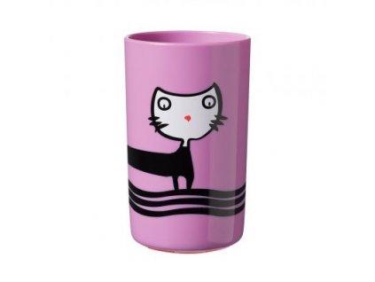 Tommee Tippee Stabilní hrnek Super Cup 300 ml 12m+ Kočička , fialový