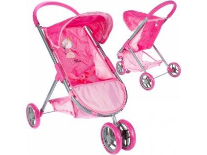Tulimi Sportovní kočárek pro panenky Princezna - růžový