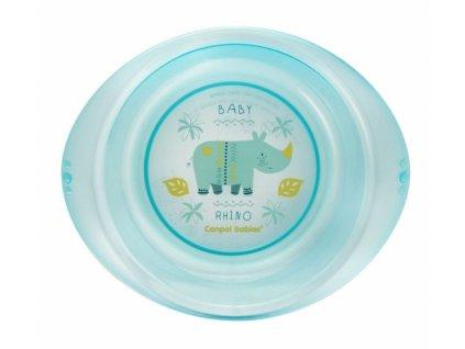 Canpol Babies Plastový talířek - Rhino, modrý