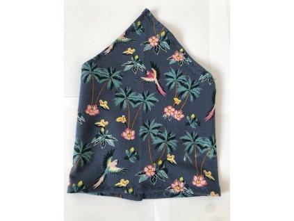 Letní dětský šátek - Botanika