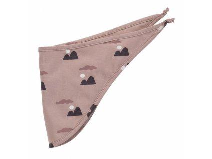 Pinokio Dětský šátek na krk, New day- hnědý se vzorem