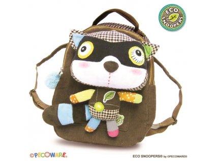 EcoSnoopers Dětský batoh,batůžek Mýval hnědý