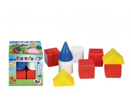 Kostky kubus Fantazie plast 9ks v krabičce 12x12x12cm 6m+