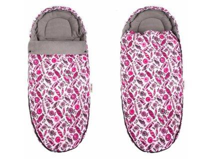 Fusák Maxi Baby Nellys ® 105x50cm - sladkosti růžové