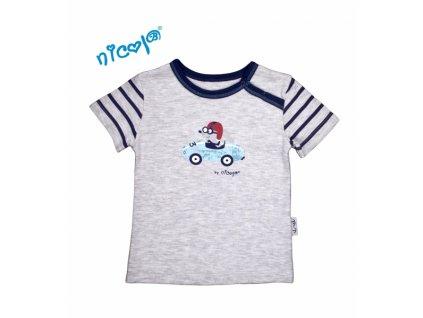 Bavlněné tričko Nicol, Car - krátký