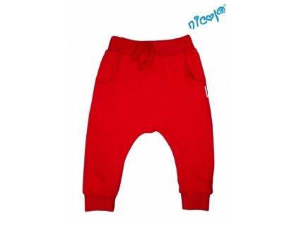 Dětské bavlněné tepláky Nicol, Sailor - červené, vel. 128 - 128