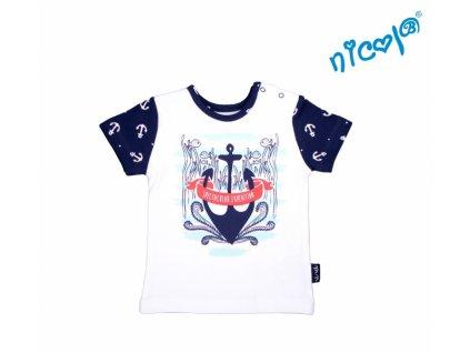 Kojenecké bavlněné tričko Nicol, Sailor - krátký rukáv