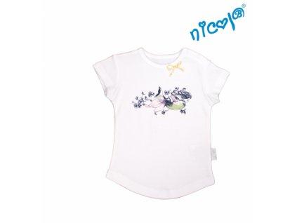 Kojenecké bavlněné tričko Nicol, Mořská víla - krátký rukáv