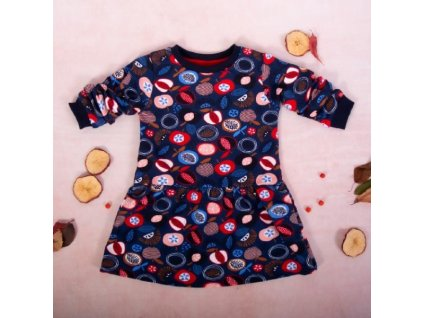 K-Baby Dívčí bavlněné šaty, Ovoce