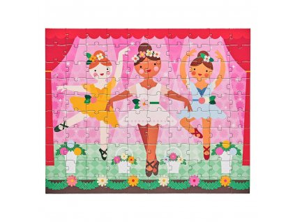 Petitcollage Oboustranné puzzle 2v1 baletky