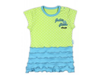 Bavlněná tunika/tričko NICOL KVĚTINKA - krátký rukáv