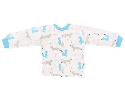 Mamatti Novozenecká bavlněná košilka, kabátek, Liška - bílá s