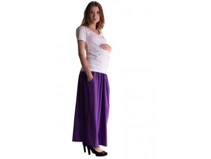 Be MaaMaa Maxi dlouhá sukně MAXINA - fialová