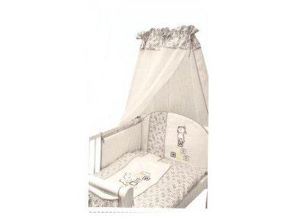 Ty i My Mantinel s povlečením Medvídek kostička - šedý - 135x100