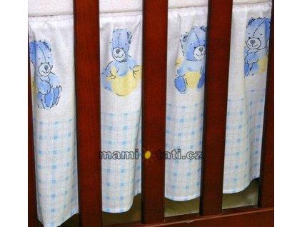 Mamo Tato Krásný volánek pod matraci - Babyland v modrém - 120x60