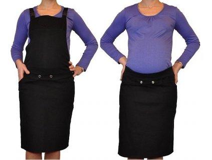 Be MaaMaa Těhotenské šaty/sukně s láclem