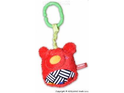 Hencz Toys Plyšová závěsná hračka - Medvídek - červený