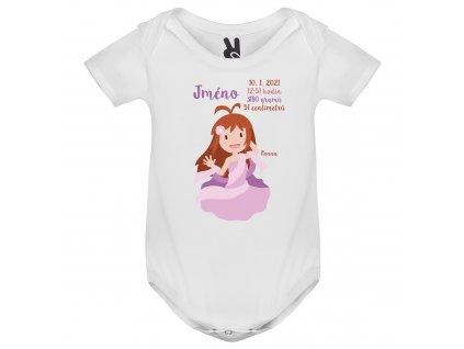 Dětské body - Panna s údaji o narození