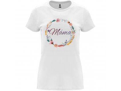 Dámské tričko Věnec s nápisem Máma