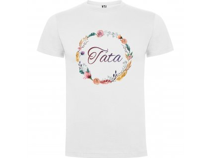 Pánské tričko - Květinový věnec s nápisem Táta