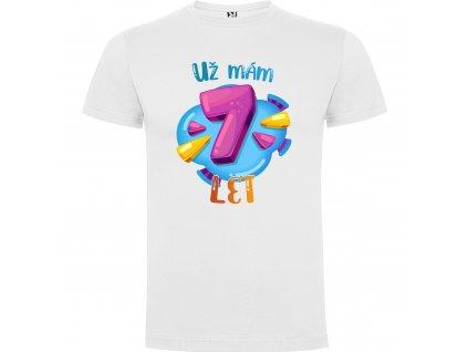 Dětské tričko - Už mám 7 let