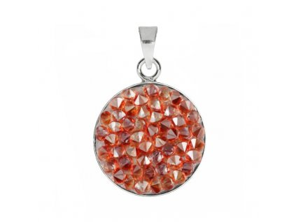 Přívěšek Crystals from Swarovski® 15mm, RED MAGMA