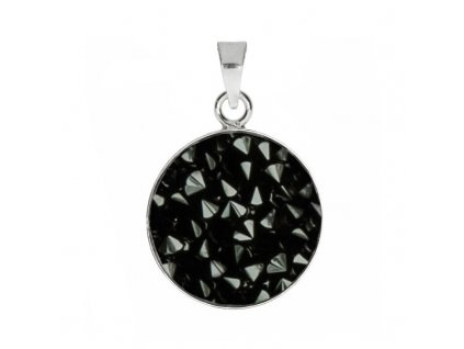 Přívěšek Crystals from Swarovski® 15mm, JET BLACK
